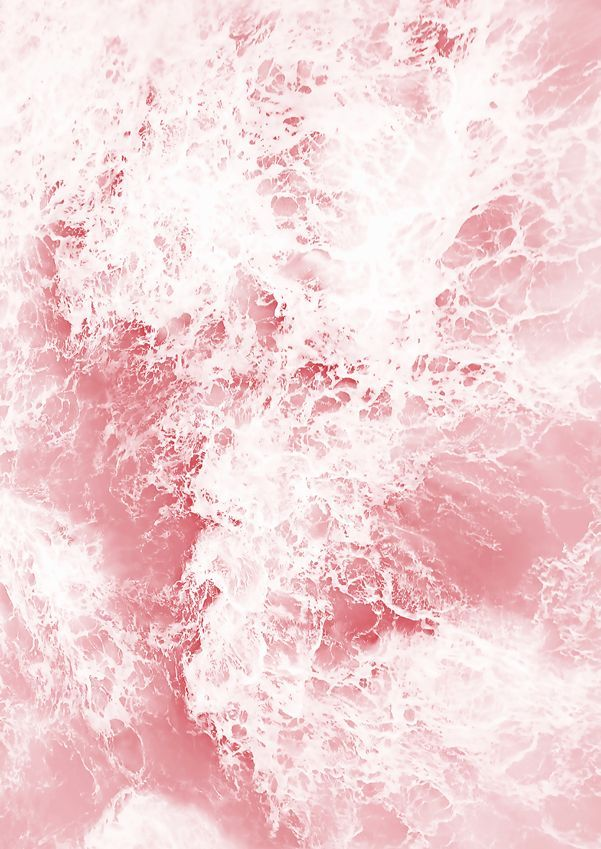 Pink Ocean Photography Print A4 Or A3 Unframed Pastel Pink