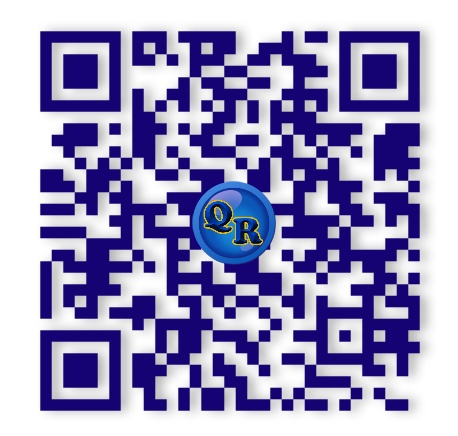 A simply branded QR Code. (Sample only)