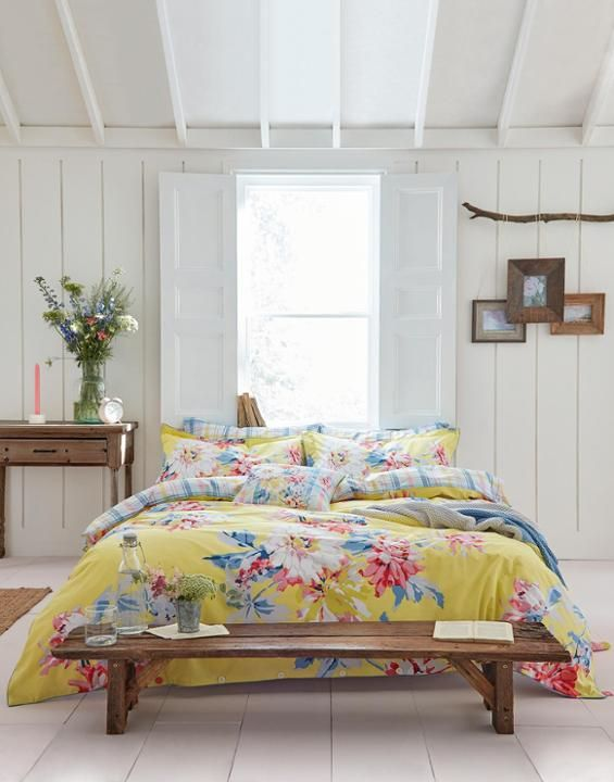 a8ad4c32d7193 Joules Yellow Whitstable Floral Homeware Duvet Cover   bloom ...