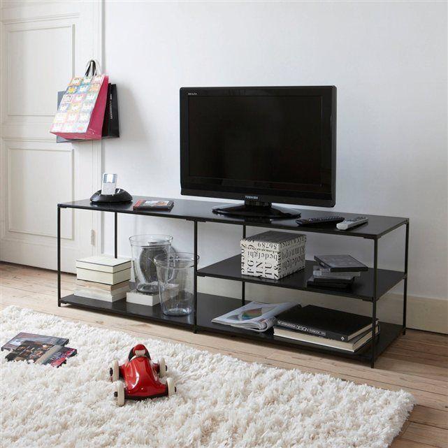 meuble tv enfilade m tal romy meubles pinterest meuble tv tv et meubles. Black Bedroom Furniture Sets. Home Design Ideas