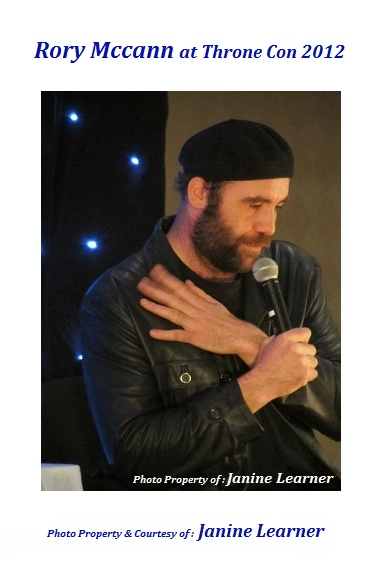 Rory McCann @ Throne Con I 2012 Photo Property of : Janine Learner: Photo Property, 2012 Photo