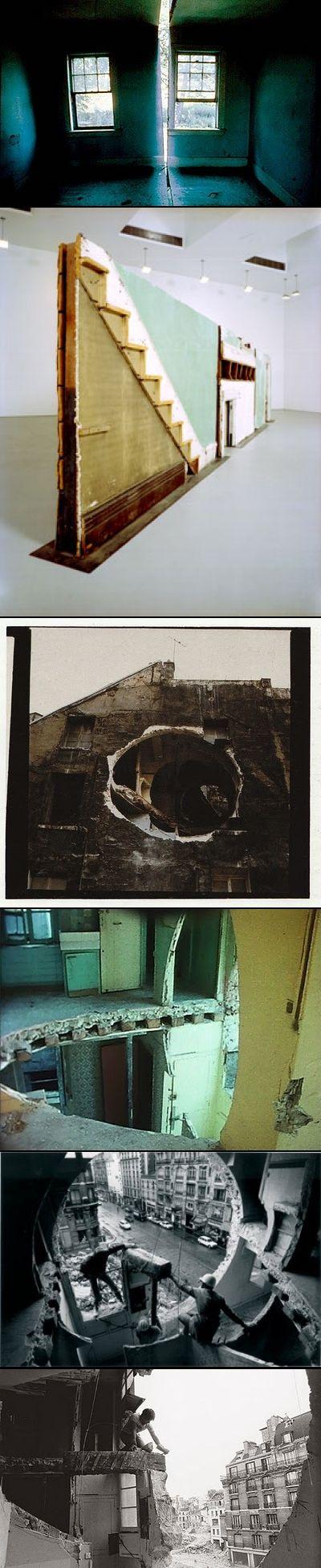 Gordon Matta Clark Building Cuts... Source: http://secretforts.blogspot.com/2011/01/anarchitect-gordon-matta-clark-1943.html