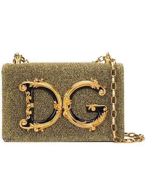 5b474a89123c Shop Dolce & Gabbana baroque logo shoulder bag | Bags in 2019 | Bags ...