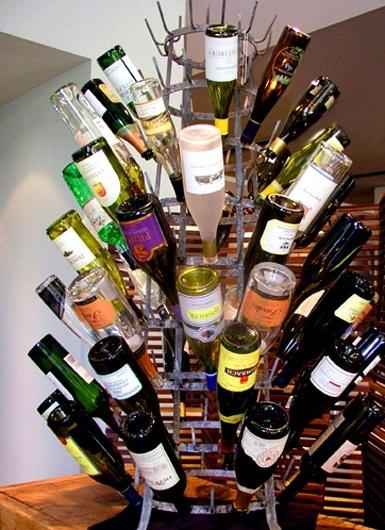 Vintage Wine Bottle Drying Rack