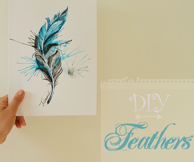 Easy video tutorial on how to paint realistic boho feathers