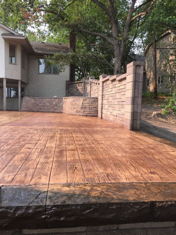 Beautiful Stamped Concrete Pool Deck With Custom AB Fence By Sierra Concrete Arts ·  BetonbeckenBeton KunstStampfbetonDekorativer BetonPool TerrassePfadeDecking