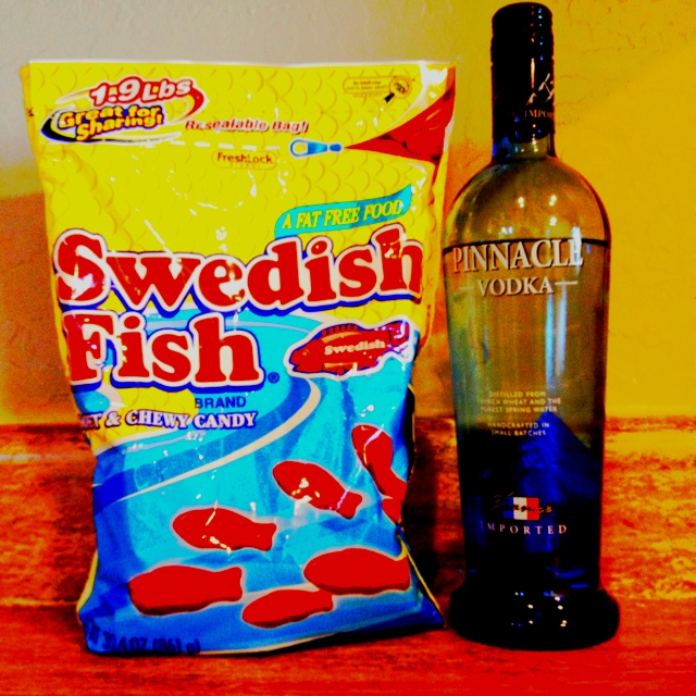 Swedish fish and vodka soaked overnight for a yummy for Swedish fish ingredients