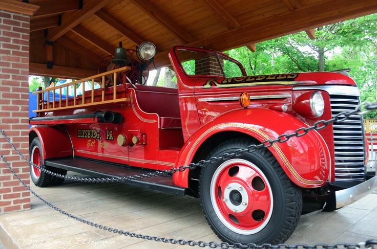 This is a picture of the 1940 Chevrolet Fire truck on display at the Knoebels Park.  The picture was taken Saturday afternoon June 2, 2012.  (C) 2012 Ronald J Chapman