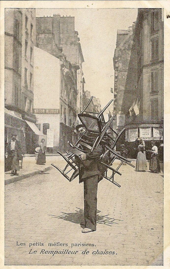 Carte Postale Paris LES Petits Metiers Parisiens LE Rempailleur DE Chaises   eBay