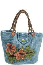 Hawaiian Motif Handbag Crochet Pattern by NexStitch, via Flickr