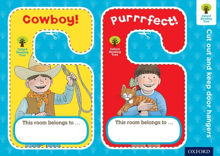 Print these Oxford Reading Tree door hangers with your favourite characters on them. Find out more about Oxford Reading Tree at: https://global.oup.com/education/content/primary/series/oxford-reading-tree