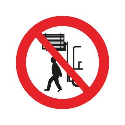 Gå ikke under hævet last - Køb forbudsskilte