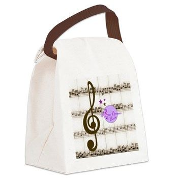 Vintage MoonDreams Sheet Music Canvas Lunch Bag - for stylish Lunch on the Go!  By #MoonDreamsMusic #LunchBag #Canvas #music