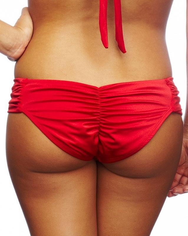 Nicolita Designer Bikinis - Salsa Shirred Forgiven Bikini Bottom