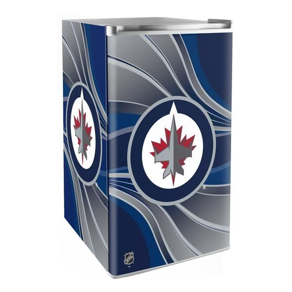 Creating the ultimate sports-themed man cave or game room comes down to the accessories it holds. The perfect sofa or recliner plus a fridge stocked with all your favorite snacks and beverages. The Winnipeg Jets mini fridge puts some style in the room while keeping the beer, soda or favorite snacks just the right temperature. With an 84 can capacity, freezer compartment and plenty of shelves, there's enough room for all you need for you and your buddies to enjoy the game. The perfect game...