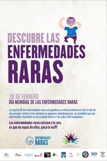 Día mundial de las #EnfermedadesRaras 28 de febrero.  Las enfermedades raras existen y lo raro es que no sepas de ellas.