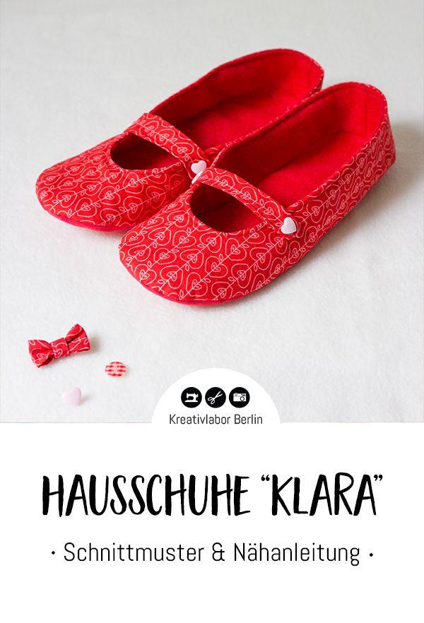 """Ballerina-Hausschuhe """"Klara"""" mit eingenähtem Riemen   Sewing ..."""