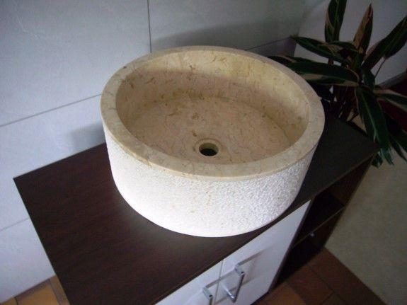 Wastafel Drum Outside Hammer Color : Cream Size: Ø 40 cm X H. 15 cm Ø 45 cm X H. 15 cm