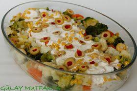 Zeynep'in doğum günü menüsü  için hazırladığım salata.. Aslında başka bir salata yapacaktım ama evde bol miktarda brokoli olduğu görünce ve...