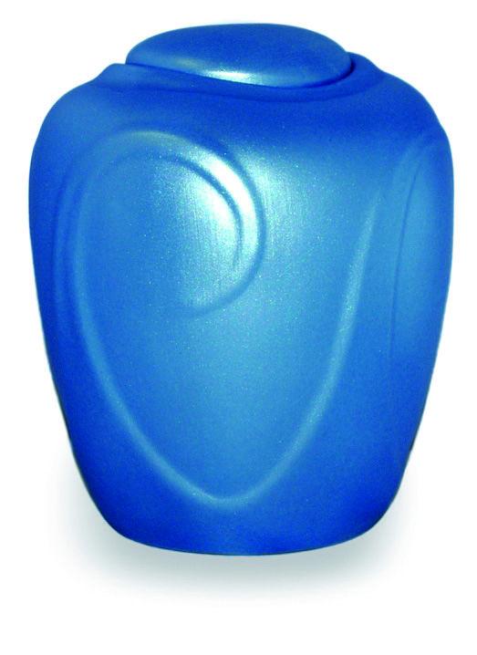 Urna Funeraria para cenizas 100% biodegradable. Serie Jeremiel Modelo Onda Blue.