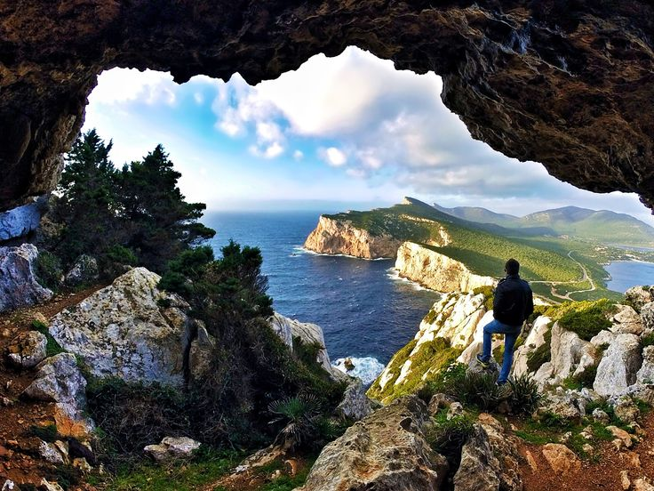 Capo Caccia, Alghero, Sardinia, Italy  ✈✈✈ Here is your chance to win a Free Roundtrip Ticket to Verona, Italy from anywhere in the world **GIVEAWAY** ✈✈✈ https://thedecisionmoment.com/free-roundtrip-tickets-to-europe-italy-verona/