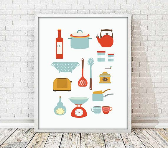 laminas cocina, poster cocina, laminas decorativas, tetera, tazas, poster tazas, laminas A4, poster A3 tazas, ilustracion cocina