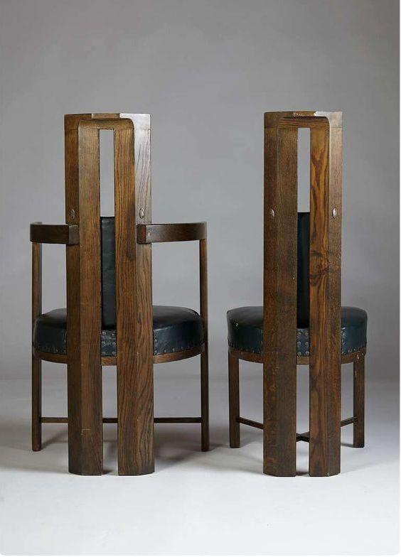 Charming Eliel Saarinen Furniture #10: Set Of Dining Chairs Designed By Eliel Saarinen, Finland.