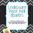 What's the hottest trend in classrooms right now? Chevron and chalkboard!!! These word wall headers are designed to coordinate with another product...