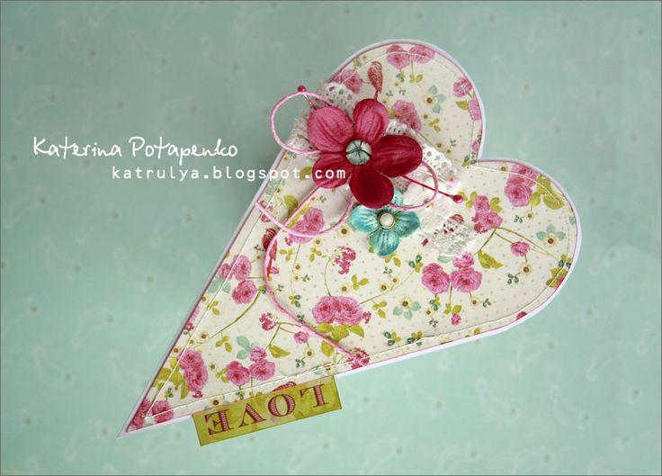 Скрапбукинг открытка в виде сердца
