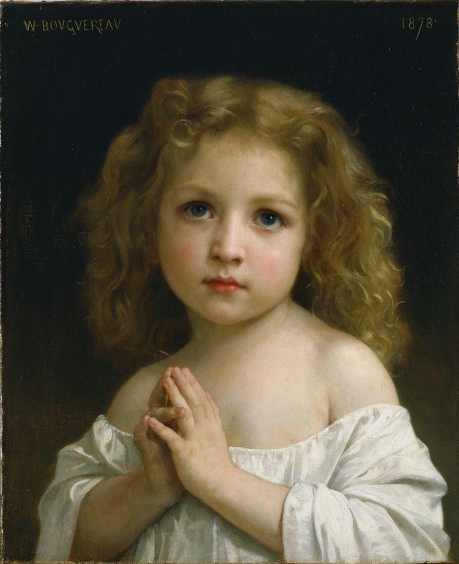 Little Girl(1878)  William Adolphe Bouguereau