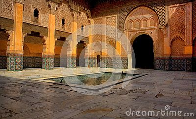 The Ben Youssef Madrasa was an Islamic college in Marrakech and was named after the amoravid sultan Ali ibn Yusuf. The Madrasa is together with the old town part of the UNESCO world heritage