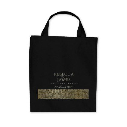 GOLD VELVET GREY MOSAIC DOTS SAVE THE DATE GIFT TOTE BAG - calligraphy gifts custom personalize diy create your own
