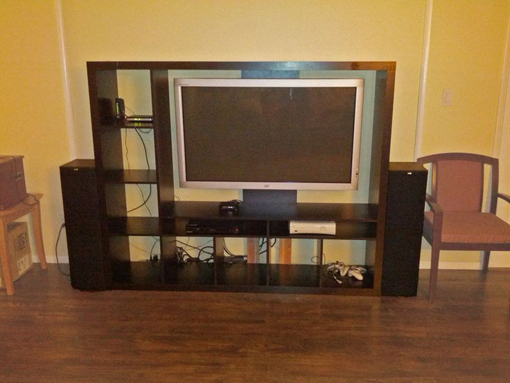 78 best ideas about tv storage on pinterest wall mounted for Expedit tv bench