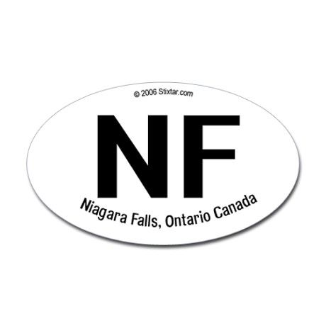 Niagara falls canada borderless oval sticker