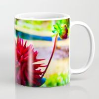Red Mug How would you enjoy sipping your morning coffee from a piece of thoughtfully designed art? Now you can!