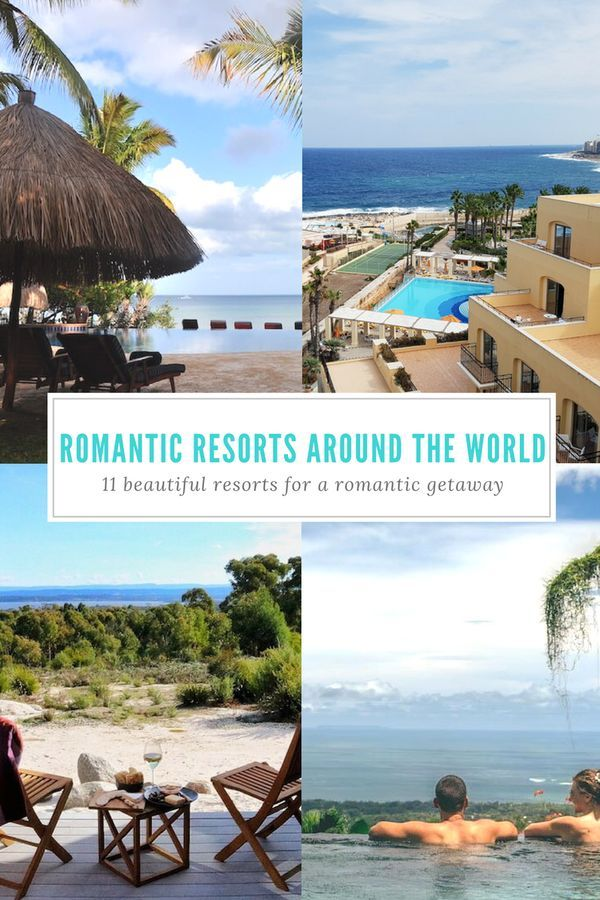 These hotels & resorts definitely have romance in the air! Travel bloggers share the most romantic hotels they've ever stayed in!