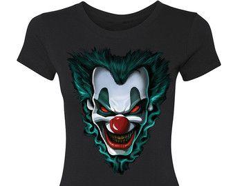 Scary Evil Joker Clown Halloween Women's T-shirt Halloween Costumes Gift  Christmas Couple Set Custom