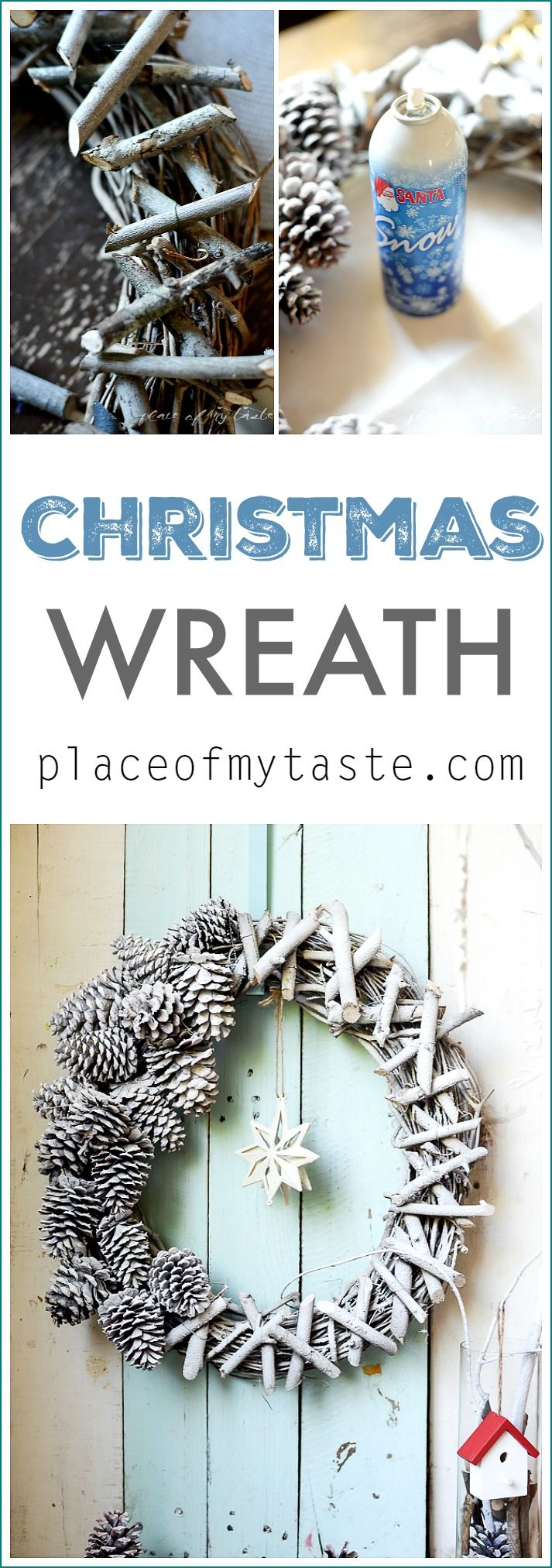 Such a gorgeous Christmas wreath. And it is super easy to make!