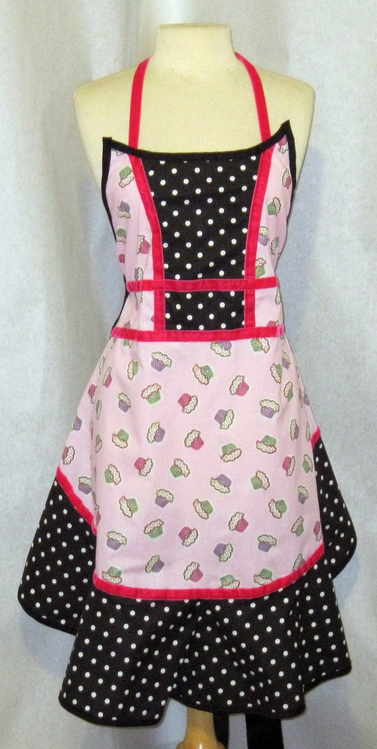 White bakers apron