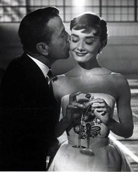 Humphrey Bogart and Audrey Hepburn in Sabrina (Billy Wilder, 1954)
