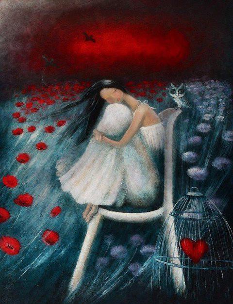 "Amanda Cass, ""A Place to Dream By."" Acrylic on canvas. Cass is a New Zealand artist who describes herself as ""self-taught."" See http://amandacass.vc.net.nz/artist/amancass/About/"