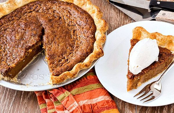 Sorghum syrup, a southern sweetener by way of Africa, lends its complex sweetness to this cinnamon sorghum custard pie. It begs for a scoop of ice cream!