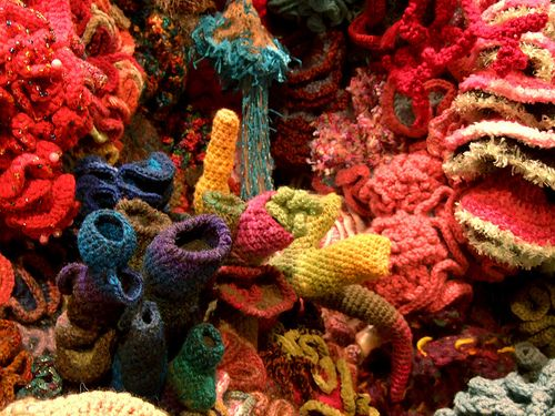 Crochet Coral Reef, project started by Christine and Margaret Wertheim, www.theiff.org