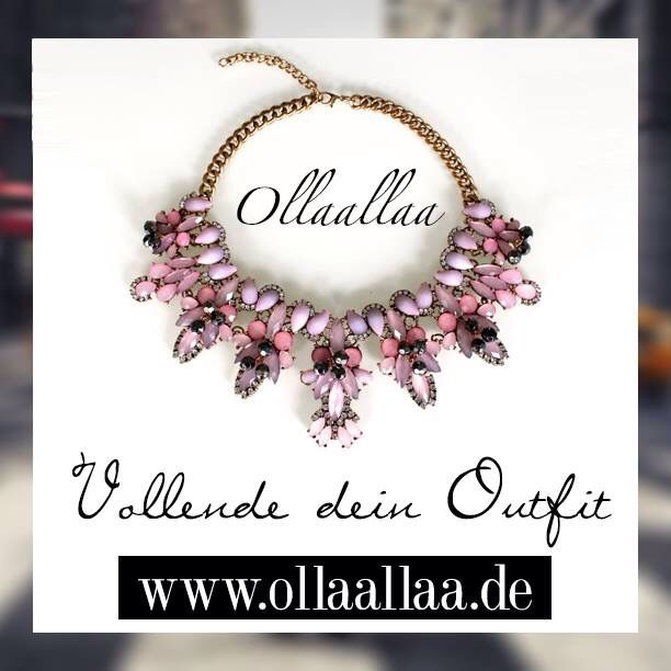 Statement Kette LUXURY CRYSTAL in pink  www.ollaallaa.de