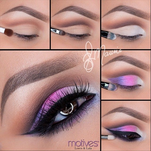 Colorful cur crease makeup look by Ely Marino using Motives!
