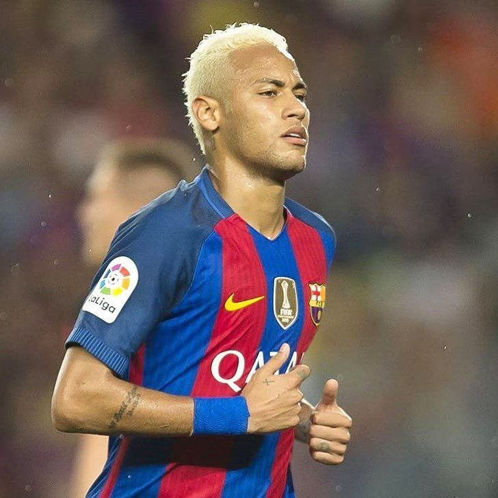 FOOTBALL   Their Is Nothing Cuter Than A Blonde Neymar On A High Punk…