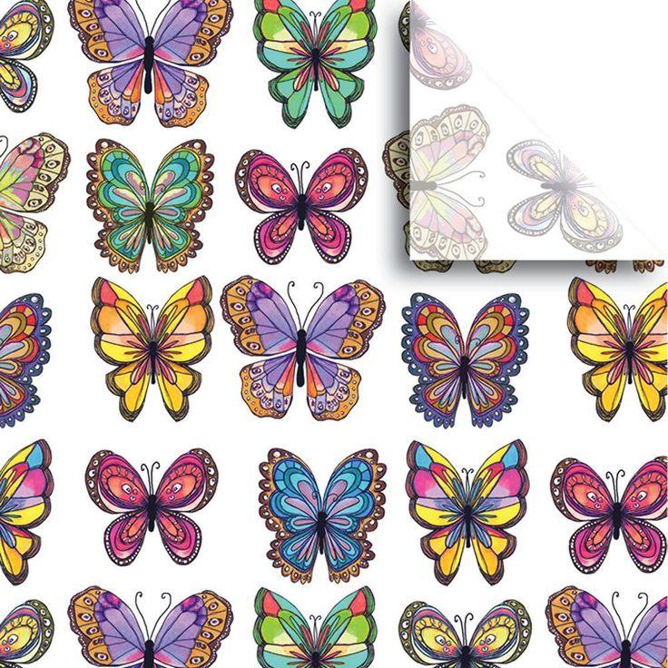 Bulk pack design gift tissue paper 20 x 30 butterflies