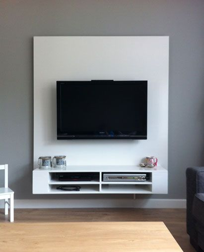 The 25 best floating tv stand ideas on pinterest tv - Ikea tv wand ...
