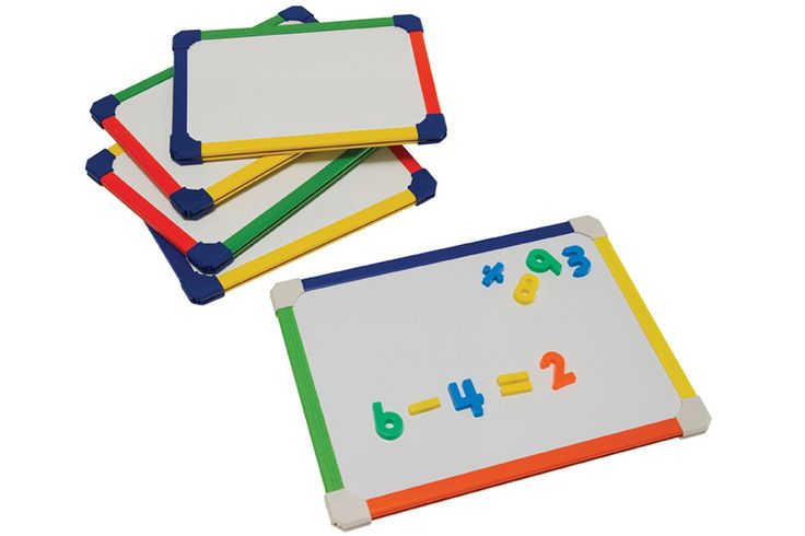 A3 Rainbow Colour Framed Drywipe Boards. This is a pack of 5 A3 size lapboards with a choice of magnetic or non-magnetic surface.  The handheld whiteboards are sturdy with a rainbow coloured frame.  Perfect for group work in schools