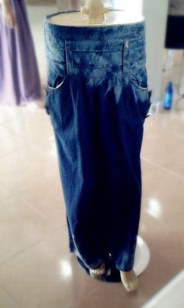 Celana bordir denim